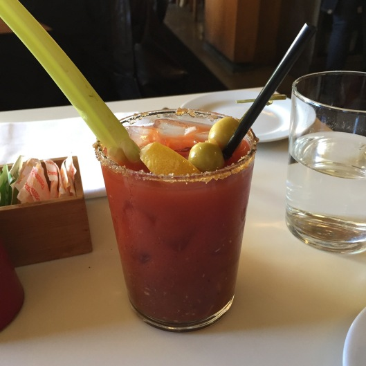 Classic Bloody Mary: Vodka / house-made bloody mary mix / salt rim...$11