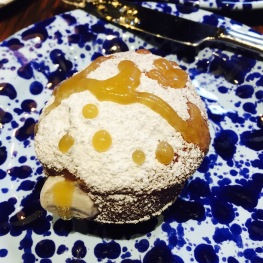 Paczki - Pastry cream with maple butter drizzle