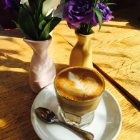 Cortado - An expresso with a small amount of steamed milk. Goes great with the bread pudding.