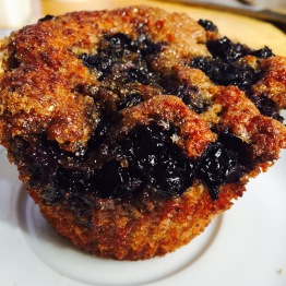 Blueberry Bran Muffin - The steady stream of older clientele at Huckleberry is what makes this muffin always in stock. Customers would complain when they tried to swap them out.Older folks just love their wheat bran. Maybe because it contains more fiber which is always of high importance to them. Higher in fiber or not, these muffins are very good in large part due to the fact that the blueberries are packed like sardines in the muffin making sure you get a healthy dose of plump, juicy, farm fresh berry. Another key to the quality of the muffin is toasting the bran to a deep golden color