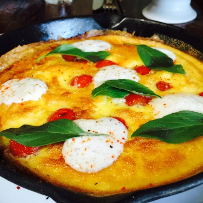 Cast Iron Frittata: Heirloom Tomato / Whipped Burrata / Espelette / Thai Basil...$14