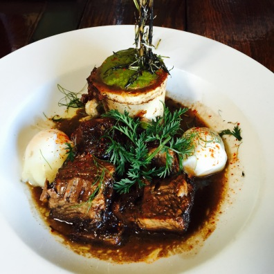 Beef Brisket: Poached Eggs / Bone Marrow / Thumb Potatoes / Natural Jus / Chimichurri...$21