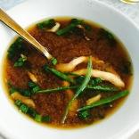 Miso Soup: Wild Mushroom & Scallion...$4