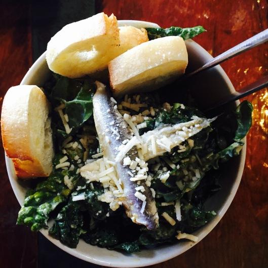 Caesar: Kale / Fregola/ Parmesan Twill / Anchovy Vin...$12