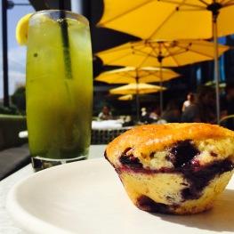 Blueberry, Almond & Olive Oil Muffin...$4 - Green Arnie: Matcha Green Tea & Honey Lemonade...$5