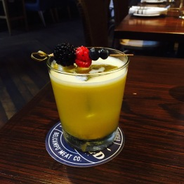 Basque Sangria - Floc de Gascogne / fresh orange juice / lemon juice / freeze-dried fruits... $12