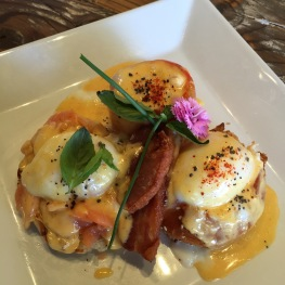 Benedict Flight: 63º Eggs / Cured Salmon / Farm Tomato Burrata / Pork Belly / Hollandaise...$18