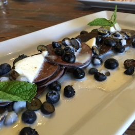 Blueberry Baby Cakes: A Baker's Dozen Pancakes / Late Summer Blueberries / Whipped Cream...$14